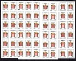 Monaco Timbres Taxe YT N° 84/86 En Blocs De 30 Timbres Non Dentelés Neufs ** MNH. TB. A Saisir! - Taxe