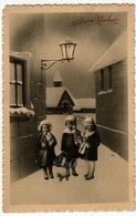 BUON NATALE - BAMBINI CON REGALI - 1914 - Vedi Retro - Formato Piccolo - Santa Claus