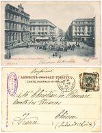 NAPOLI - PIAZZA BORSA E FONTANA MEDINA - VIAGG. 1901 -52096- - Napoli (Naples)