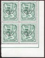 COB  Typo  810 (P6)  Bloc De 4, Coin De Feuille - Precancels