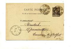 Carte Postale 10 C Sage Cachet Saint Brieuc+ Morvillars - Entiers Postaux
