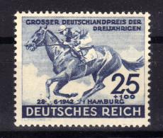 ALLEMAGNE Germany Reich 1942 Hippisme Cheval Horse Yv 738 MNH ** - Deutschland
