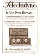 "PUB POSTE RADIO "" LE SELECTADYNE "" 1926 ( 1 ) - Radio & TSF"