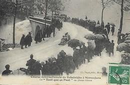 """MOREZ  ¨SPORTS D'HIVER 1909 """"LE TANT QUE CA PEUT"""" EN PLEINE VITESSE - Morez"""