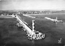 11-PORT-LA-NOUVELLE- LE PHARE ET LA JETEE VUE DU CIEL - Port La Nouvelle