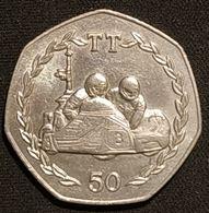 ILE DE MAN - ISLE OF MAN - 50 PENCE 1984 - Elizabeth II ( 2ème Effigie ) - KM 126 - ( Tourist Trophy - Side-car ) - Monnaies Régionales