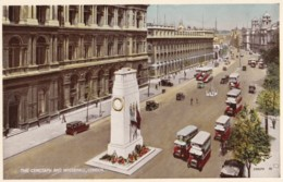 AR83 The Cenotaph And Whitehall, London - Vintage Buses - London
