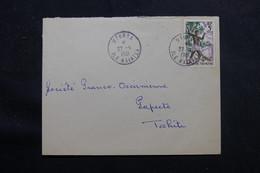 POLYNÉSIE - Enveloppe De Uturoa Pour Papeete En 1961 , Affranchissement Plaisant - L 55990 - Briefe U. Dokumente