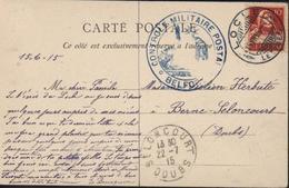 Guerre 14 Cachet Censure Contrôle Militaire Postal Belfort CPA Village Col Des Roches CPA LOCLE 15 VII 15 YT 138 Suisse - WW I