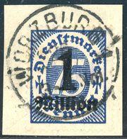 D 96 Zentrischer Vollstempel Briefstück - Michel 50 € - Deutschland