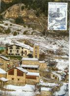 Andorra Paisaje Nevado.Andorra Snow Landscape. - Paysage De Neige Andorra. Carte-maximum - Lettres & Documents