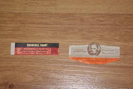 """2 Bagues De Cigares """"churchill"""" - Articoli Pubblicitari"""