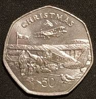 ILE DE MAN - ISLE OF MAN - 50 PENCE 1985 - Elizabeth II ( 3ème Effigie ) - KM 158 - ( CHRISTMAS - NOEL ) - Monnaies Régionales
