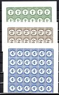 Gibraltar Timbres Taxe YT N° 1/3 En Blocs De 4 Neufs ** MNH. TB. A Saisir! - Gibraltar