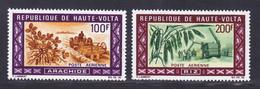 HAUTE-VOLTA AERIENS N°   73 & 74 ** MNH Neufs Sans Charnière, TB (D9223) Produits Agricoles, Arachide, Riz - 1969 - Upper Volta (1958-1984)