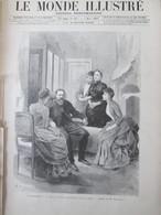 Gravure  1888   A San Remo   Le Prince Impérial   D Allemagne   Et Sa Famille Villa  ZIRIO - Vieux Papiers