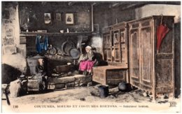 COUTUMES, MOEURS ET COSTUMES BRETONS - Intérieur Breton - Bretagne
