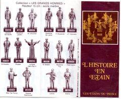 Petit Catalogue Des étains Du Prince Avec La Collection - Estaño