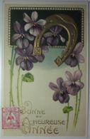 FANTAISIE - Bonne Et Heureuse Année (gauffrée) - Nouvel An