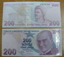AC - TURKEY - 9th EMISSION 200 TL C UNCIRCULATED - Türkei