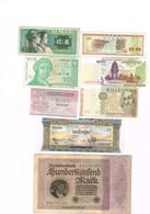 Lot De 8 Billet Allemagne - Hrvatska Zagreb - ? - Laos - Chine -  2 De Cambodge - Italie - Billets