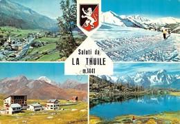 Cartolina La Thuile Vedute 1967 Timbro Albergo San Bernardo - Italy