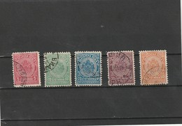 1901-04 Used Sc.J19-23 Yv. Taxe 16-20, Mi. Porto 16-20                     156 - Segnatasse
