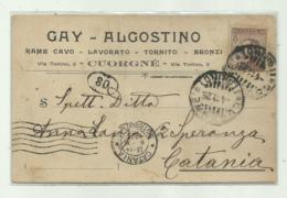 CUORGNE' - RAME  CAVO  LAVORATO 1929   VIAGGIATA  FP - Italia