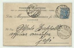 CUORGNE' - FONDERIE ED OFFICINE PER LA LAVORAZIONE DEL RAME E OTTONE 1921   VIAGGIATA  FP - Italia