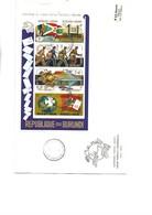 BURUNDI - BLOC FEUILLET NON DENTELE N° 77 SUR LETTRE FDC -ANNEE 1974 - COTE :27,50 € - 1970-79: Neufs
