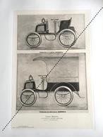 1898 Rare Lithographie Industrie Belge Auto Automobile Cycle Minerva S. De Jong Anvers Berchem - Historische Documenten