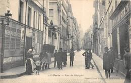 PARIS  Rue De Sévigné A Voyagé En 1906  -Belle Animation En Gros Plan 2 Scans Parfait état - Non Classés