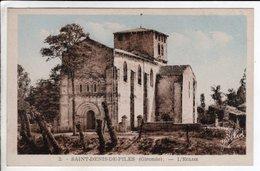Cpa Saint Denis De Piles  L Eglise - Other Municipalities
