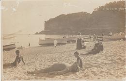 150-Celle Ligure-Savona-Liguria-Fotografica Con Bagnanti-v.1916 X Palermo-Sicilia - Savona