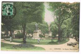 101 Amiens - Le Square René-Goblet - Belle Carte Couleur - Animée - Chute De Branches - 1908 ? - Ed. GL - Circulé - Amiens