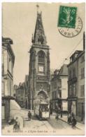 30 Amiens - L'église Saint-Leu - Boulangerie - Café Pélican - Animée - LL - Circulé - Amiens