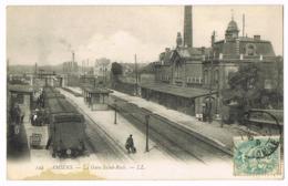 122 Amiens - La Gare Saint-Roch - Animée - Train - LL - Mlle HAVAUX - 1906 - Circulé - Amiens