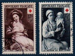 FRO 1953  Au Profit De La  Croix-Rouge  N°YT 966-967  (ex3) - France