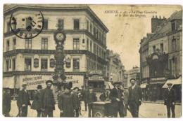 Amiens - 41 - La Place Gambetta Et La Rue Des Sergents  - Animée - Maison Prevost Boulogne - Café Riche - Amer Picon - Amiens