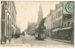 447 Amiens - La Rue De Beauvais - Animée - Tramway 20 - Foule - Café ? - Patisseries Confiseries Et Glaces - Circulé - Amiens