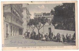 AFRIQUE DU NORD ALGERIE ALGER BAB EL OUED : RUE PICARDIE ET BOULEVARD CHAMPAGNE - Alger
