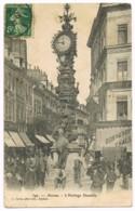 399 Amiens - L'Horloge Dewailly - Foule - Animée - Maison Prevost Boulogne - L Caron - 1907 - Circulé - Amiens