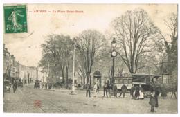 Amiens - La Place Saint-Denis - Belle Animation - Foule - Tramway - Chocolat IBLED - Attelages - Mr DUMONT - Circulé - Amiens