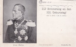 UNSER MOLTKE. ALLEMAGNE CARTE POSTALE CIRCA 1900's NON CIRCULEE. SOLD AS IS -LILHU - Hommes Politiques & Militaires