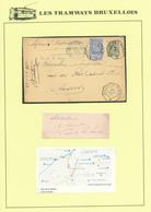 DDW/551 -- LES TRAMWAYS BRUXELLOIS - Entier Postal +  TP Fine Barbe En EXPRES BXL Centre 1895 - Transporté Par TRAM - 1905 Grove Baard