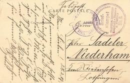 Cachet Guerre 1914 1918 Militaire Allemand Brief Stempel Koniglich Preussisches Dragoner Regiment Dragon - Poststempel (Briefe)