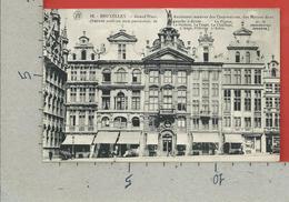 CARTOLINA NV BELGIO - BRUXELLES - Grand Place - Anciennes Maisons Des Corporations Et Des Metiers - 9 X 14 - Monumenti, Edifici