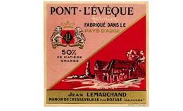 Etiquette Fromagerie  De Pont L'Evêque  Jean Marchand   Dozulé Calvados  Neuve   116mm - Fromage