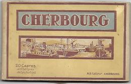 CHERBOURG - Carnet De 20 Cartes Postales - Cherbourg