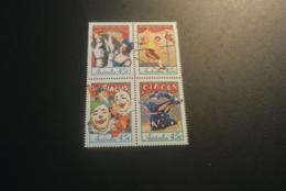 K30164   - Set In Bloc  MNH  Australia 1997 - SC. 1591-1594 - Circus In Australia - Zirkus